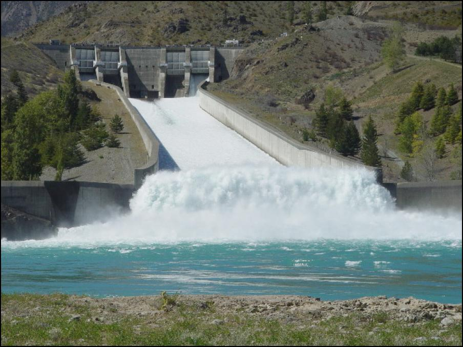 Benmore Dam Spilling