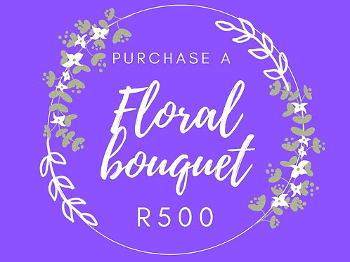 Floral hand -tied bouquet R500