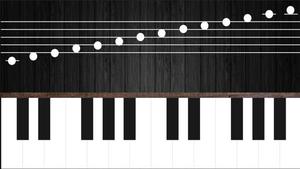 Screenshot of the piano simulator