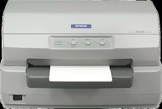 PLQ-20 EPSON מדפסת למסמכים ופנקסי בנק