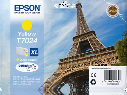 דיו צהוב למדפסת אפסון T7024 EPSON
