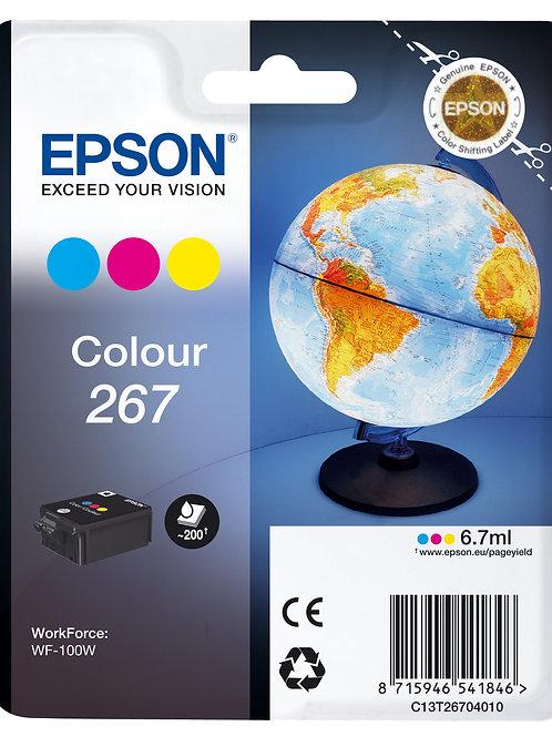 דיו צבעוני למדפסת אפסון INK 267 CARTRIDGE EPSON