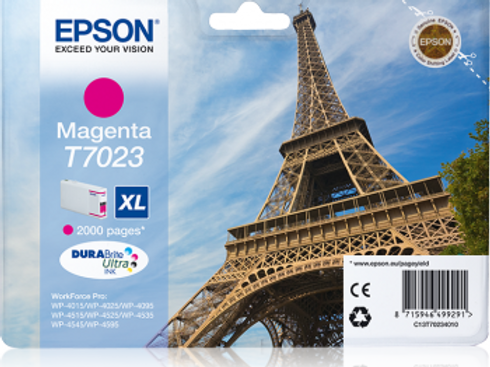 דיו אדום למדפסת אפסון T7023 EPSON