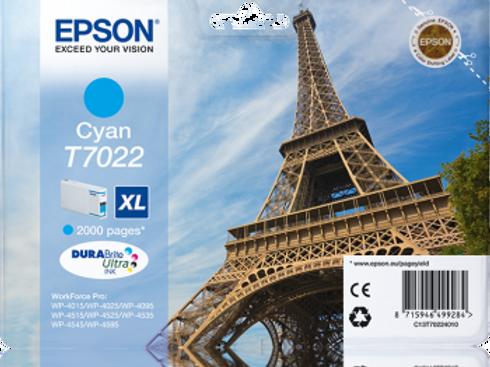 דיו כחול למדפסת אפסון T7022 EPSON