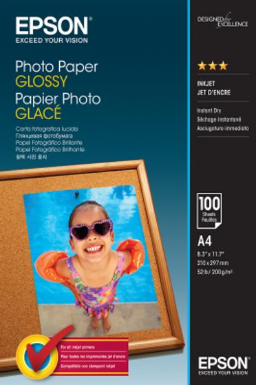 נייר למדפסת Photo Paper Glossy A4 EPSON