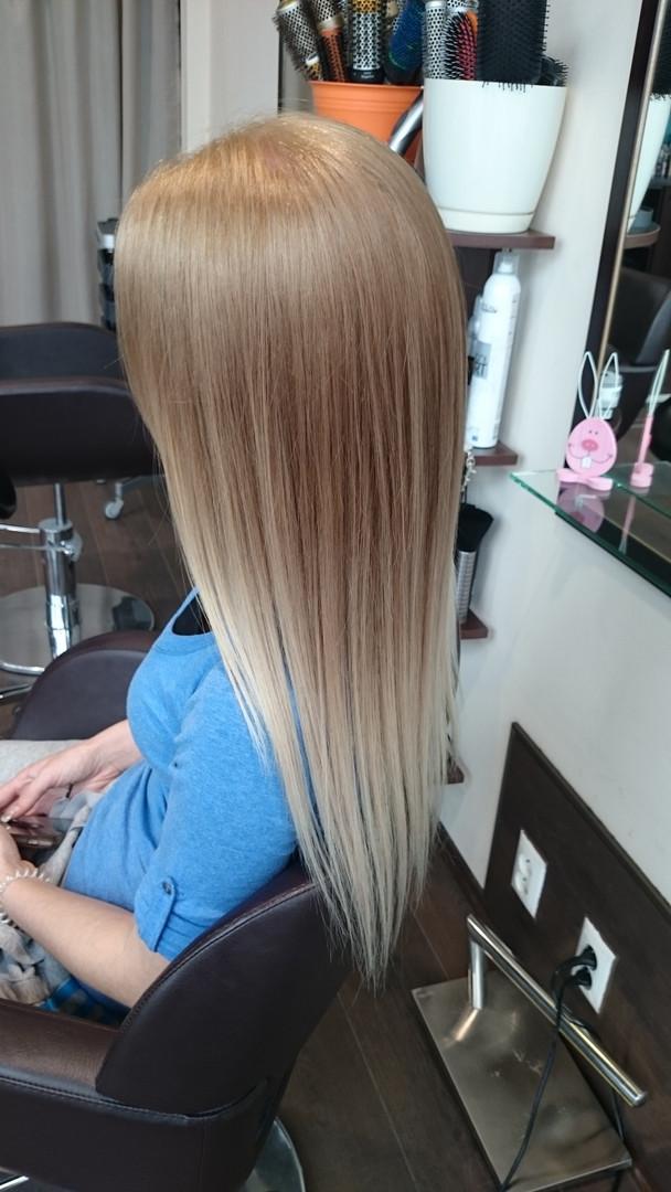 Ombré, hnedá, blond