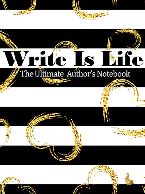 Write Is Life (Black Stripes/hearts)