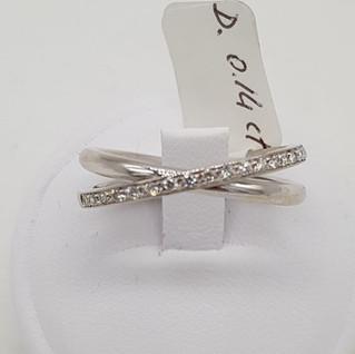 Anello oro 750 gr 5.02 - diamanti 0.14 ct - EURO 320