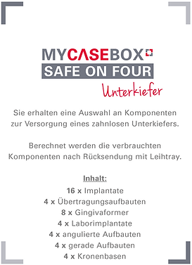 MCB, My Case Box - Unterkiefer
