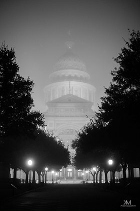 Texas Capitol in the Fog