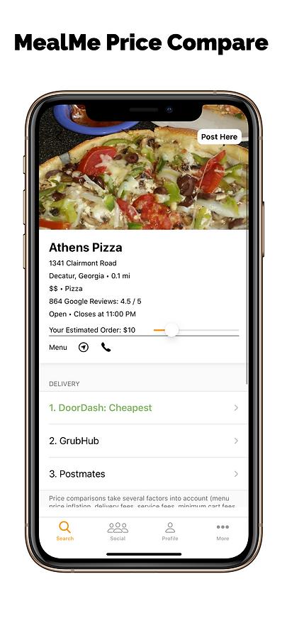MealMe Price Compare Tells You The Cheapest Food Delivery Service, Best Food Delivery Service, Fastest Food Delivery Service, and Quickest Food Delivery Service