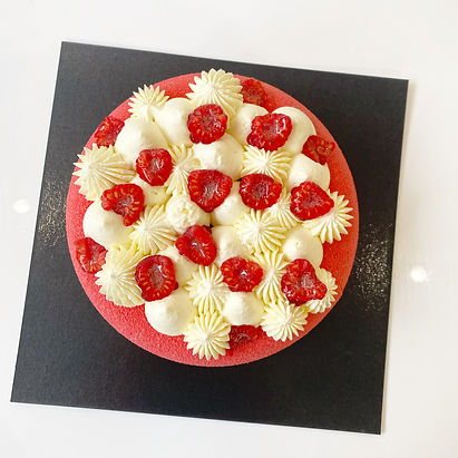 Celebration Cake comes in variety flavours, Chocolate, Vanilla, Raspberry, Pistachio and many more flavours. Available as tarts too. Created and handcrafted by Aiste Berlinskaite & Karolis Juskenas