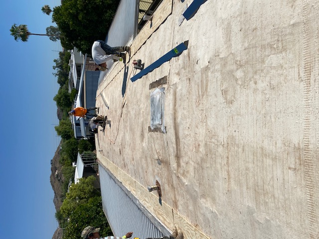 Spray foam roofing - before