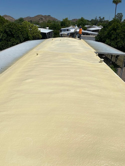 Spray foam roofing - After