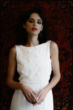 La Poesie Audrey Silk Wedding Gown