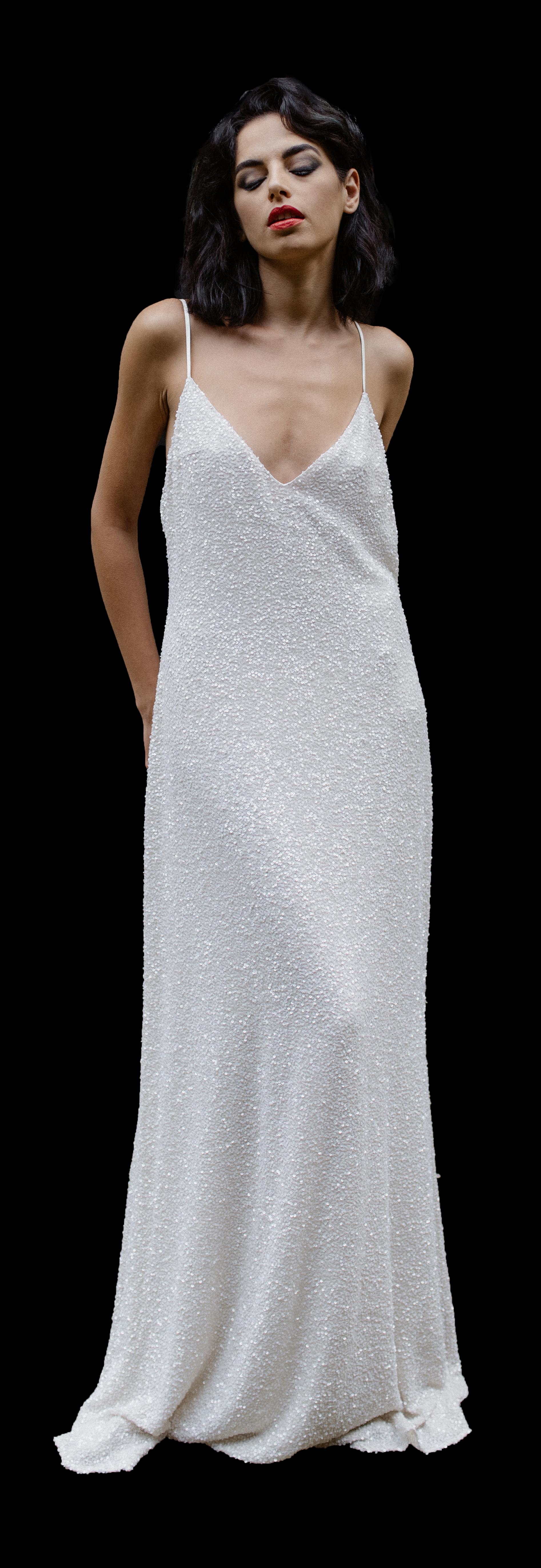 LaPoesie Alexandra Silk Wedding Gown