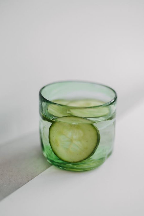 Small hand-blown glass