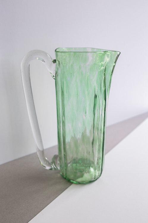 Green hand-blown glass jug KUUNDESIGN