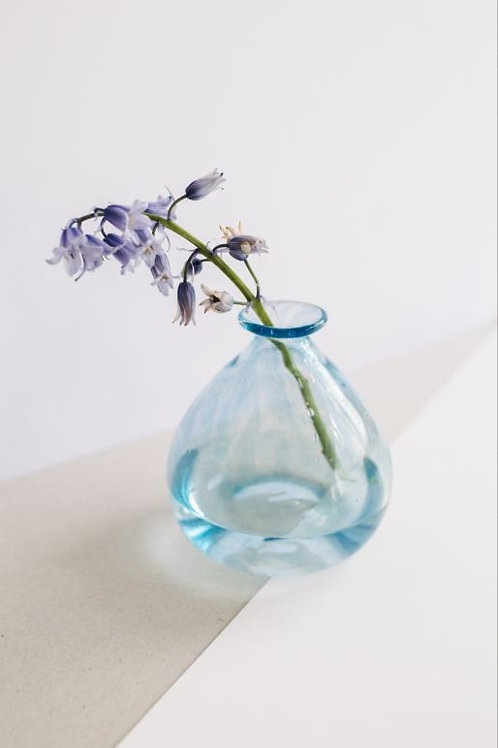 Blue hand-blown glass carafe KUUNDESIGN