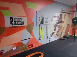 grafiti em academia