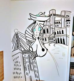 grafiti em quarto baiana