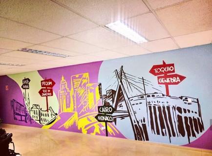 grafiti em escritório