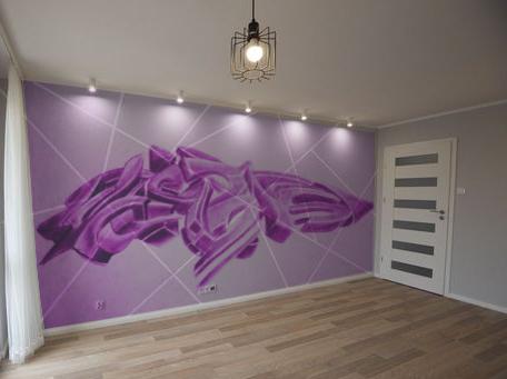 Grafiti 3d em sala