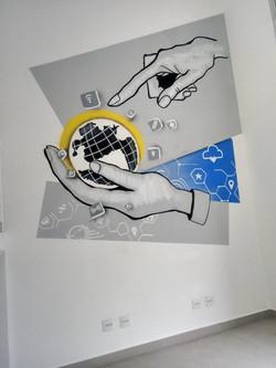 grafiti em escritorio tecnilogia ti