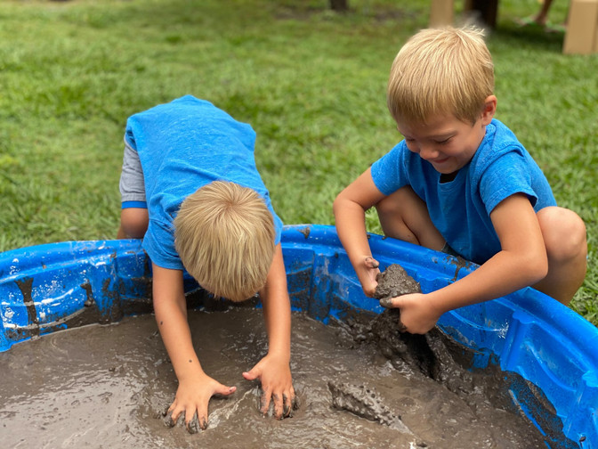 Dozens enjoy a day of playing in the mud at The Children's Museum of Wilmington