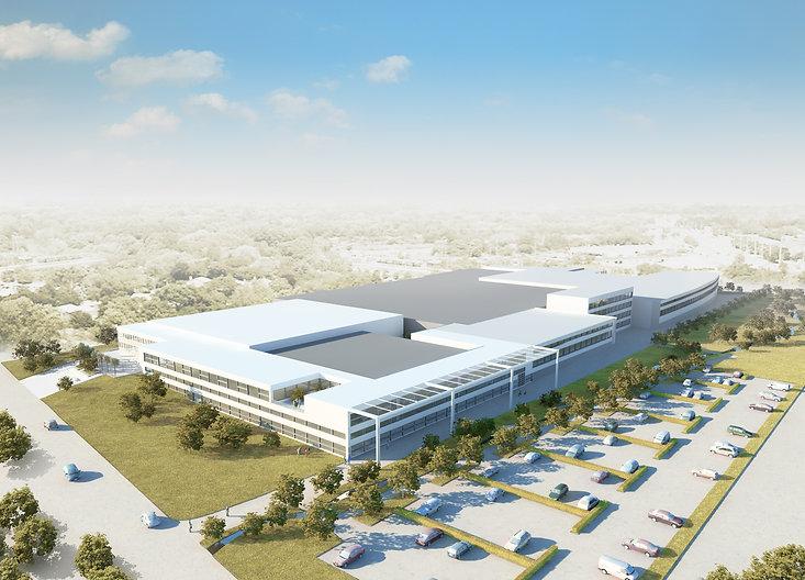 Produktions-, Versand- und Verwaltungsgebäude