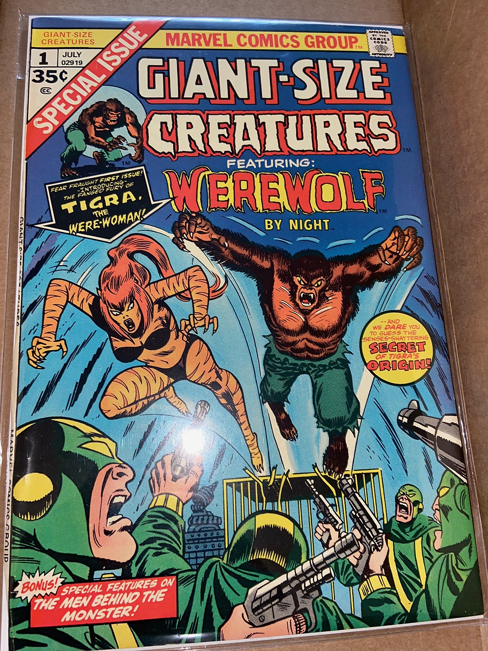 Giant-Size Creatures 1 from Marvel (1st Tigra)