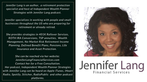 Don't leave money on the table. At JenniferLangFinancialServices.com we can help you put together a strategy that maximizes Social Security, provides for long-term care and adjusts for inflation and taxes. Contact us today.