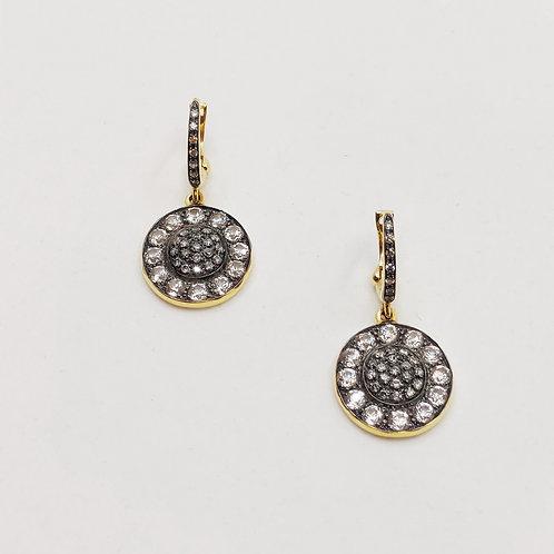 Золотые серьги Brusi с бриллиантами и сапфирами