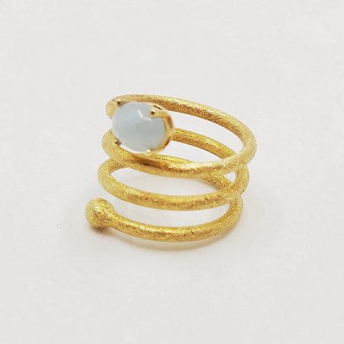 Золотое кольцо Nanis с аквамарином