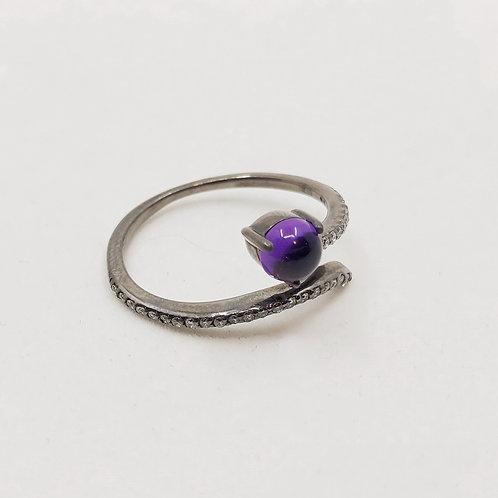 Кольцо Jordan Scott с бриллиантами и аметистом