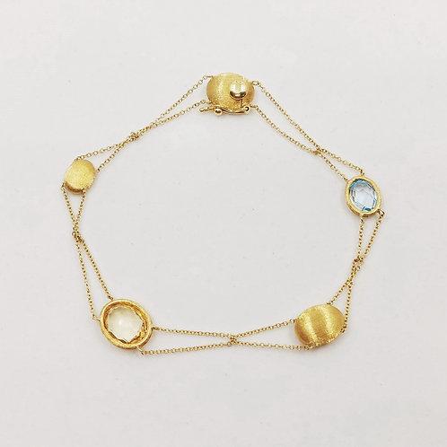 Золотой браслет Nanis с топазом и цитрином
