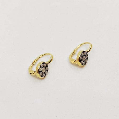 Золотые серьги Brusi с бриллиантами pique