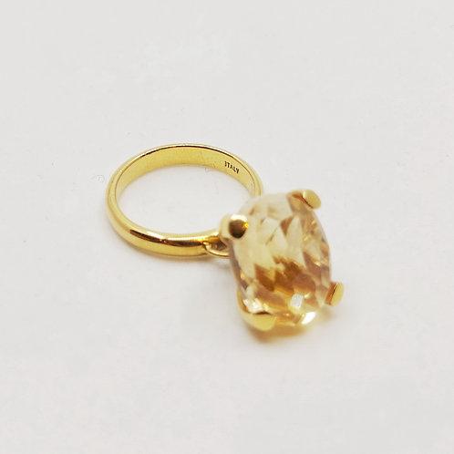 Золотое кольцо Nanis с кварцем или аметистом