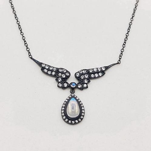Колье Jordan Scott с бриллиантами, сапфирами и лунным камнем