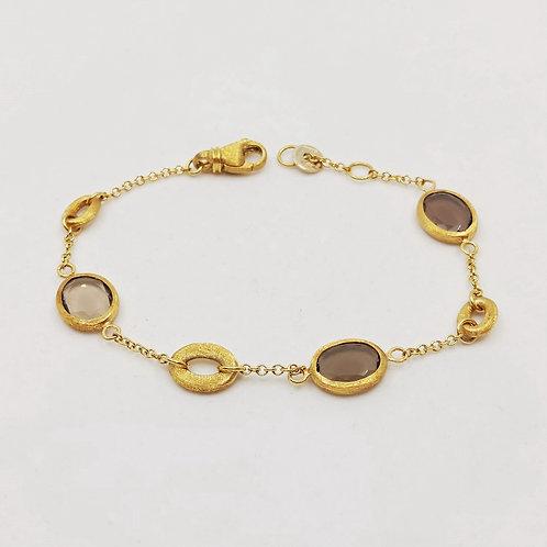 Золотой браслет Nanis с кварцем