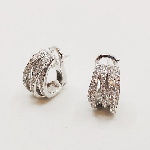 Золотые серьги Sofragem с бриллиантами