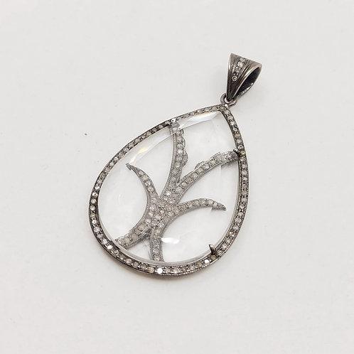 Серебряная подвеска Jordan Scott с бриллиантами