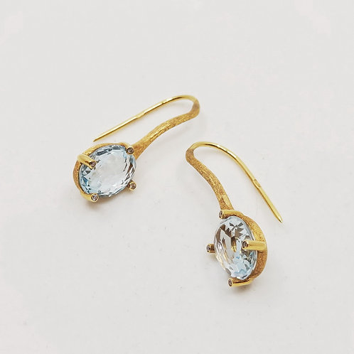 Золотые серьги Nanis с бриллиантами и топазом