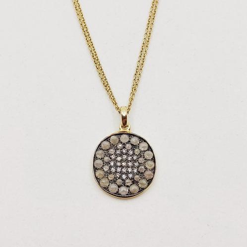 Золотое колье Brusi с бриллиантами и пиритом