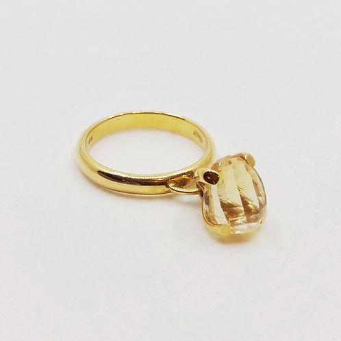 Золотое кольцо Nanis с кварцем