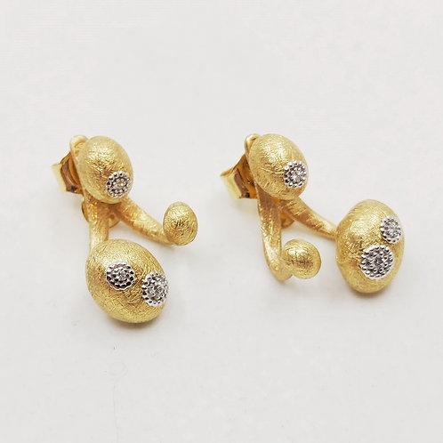 Золотые серьги Nanis с бриллиантами