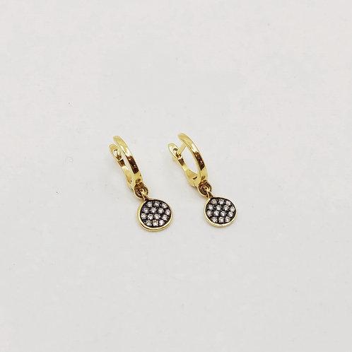 Золотые серьги Brusi с бриллиантами