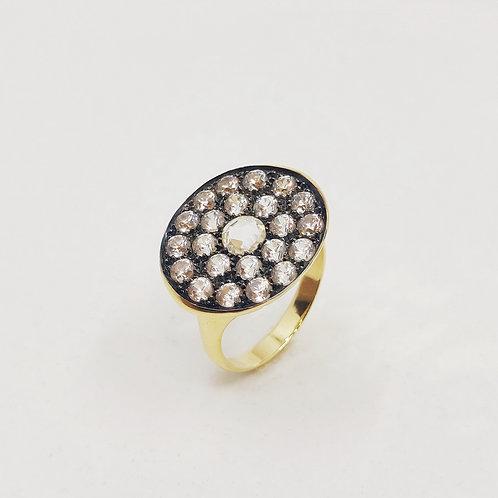 Золотое кольцо Brusi с сапфирами