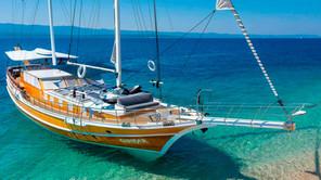 CRUISING THE SEA OF IBIZA ON A TURKISH GULET