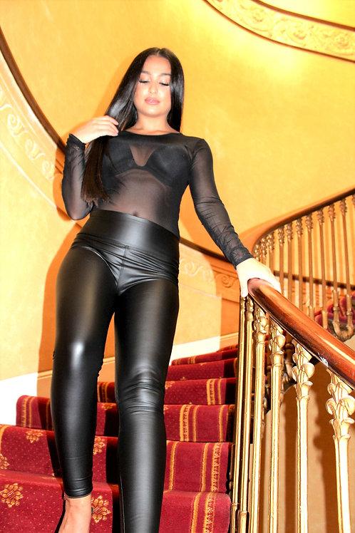PVC High Waist Trousers